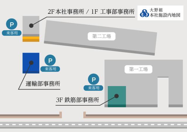 京都本社工場構内地図