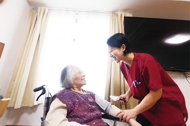自宅と病院の中間施設としての<br>サポート体制