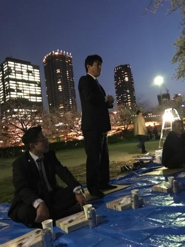 夜桜会(新入社員歓迎会)