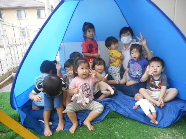 2歳児ばら組  うさぎグループ いっぱい遊んだよ