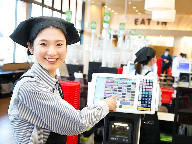 レジスタッフはお店の顔!明るい笑顔で接客しましょう。