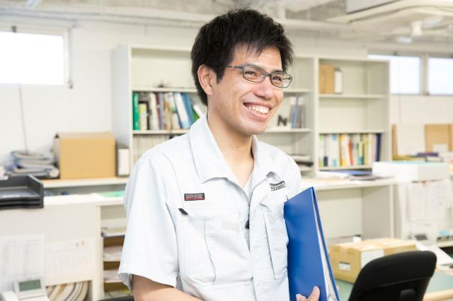 「不動産で長く活躍できる環境です」と代表の竹林(右)と設計部責任者で一級建築士の原島(左)。