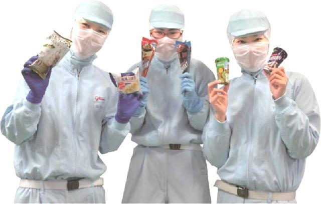 食品を使う工場だから、とってもキレイ&清潔。 快適に働けますよ。