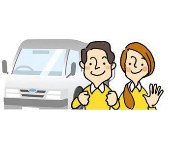 【送迎スタッフ】は、中高年の方活躍中! 社用車があるから、車の持ち込みは不要ですよ◎